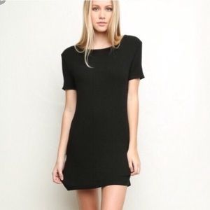 BRANDY MELVILLE Soft Black T Shirt Mini Dress